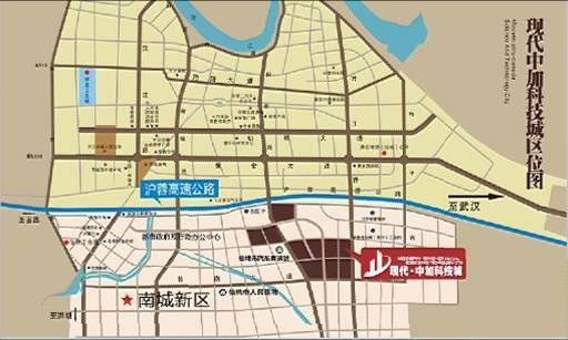 现代·中加科技城区位图