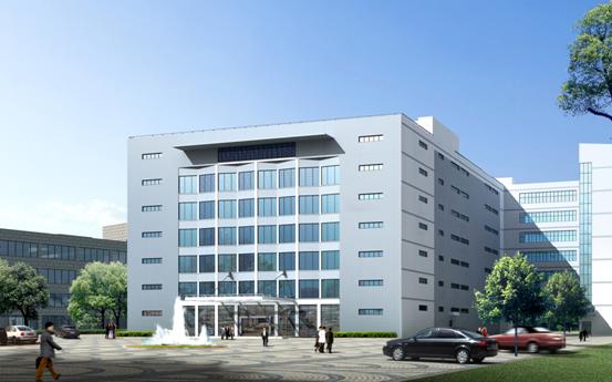 厂房的正门安装了具有欧式风格设计的玻璃幕墙,展示国际化大公司的