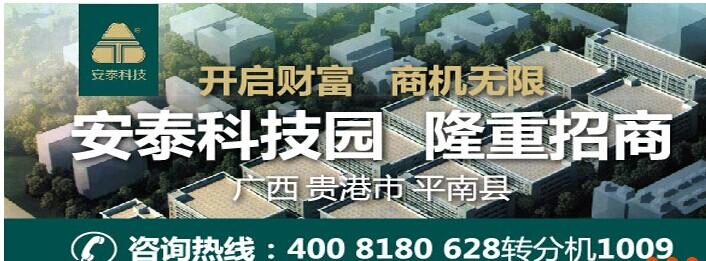【新盘亮相】广西安泰科技园全新大型标准厂房招商