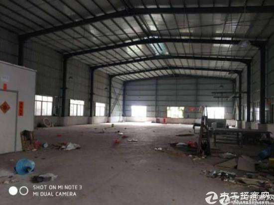 惠州镇隆原房东滴水八米钢构厂房900平!中间无柱子,