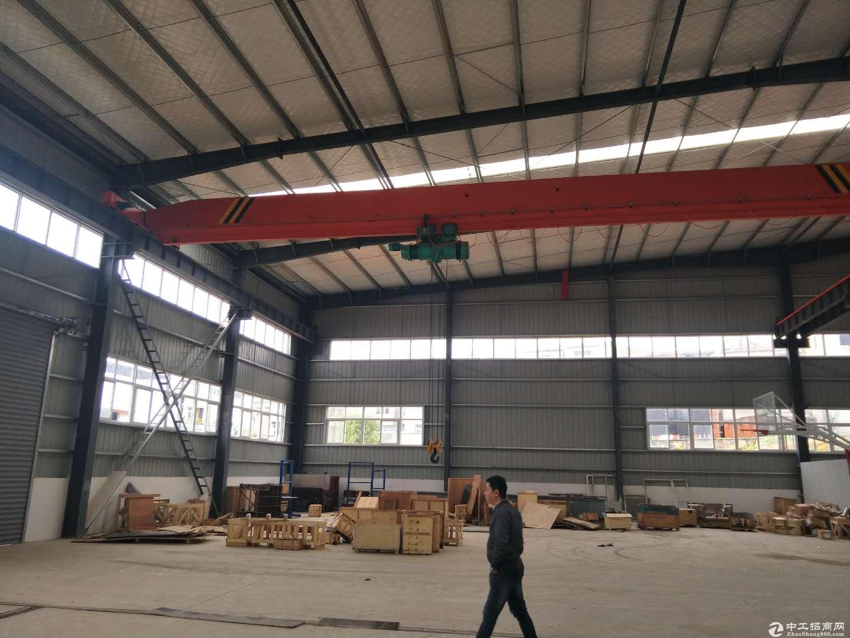 武汉黄陂横店1800平米钢结构厂房整租,带5吨行车,配套办公