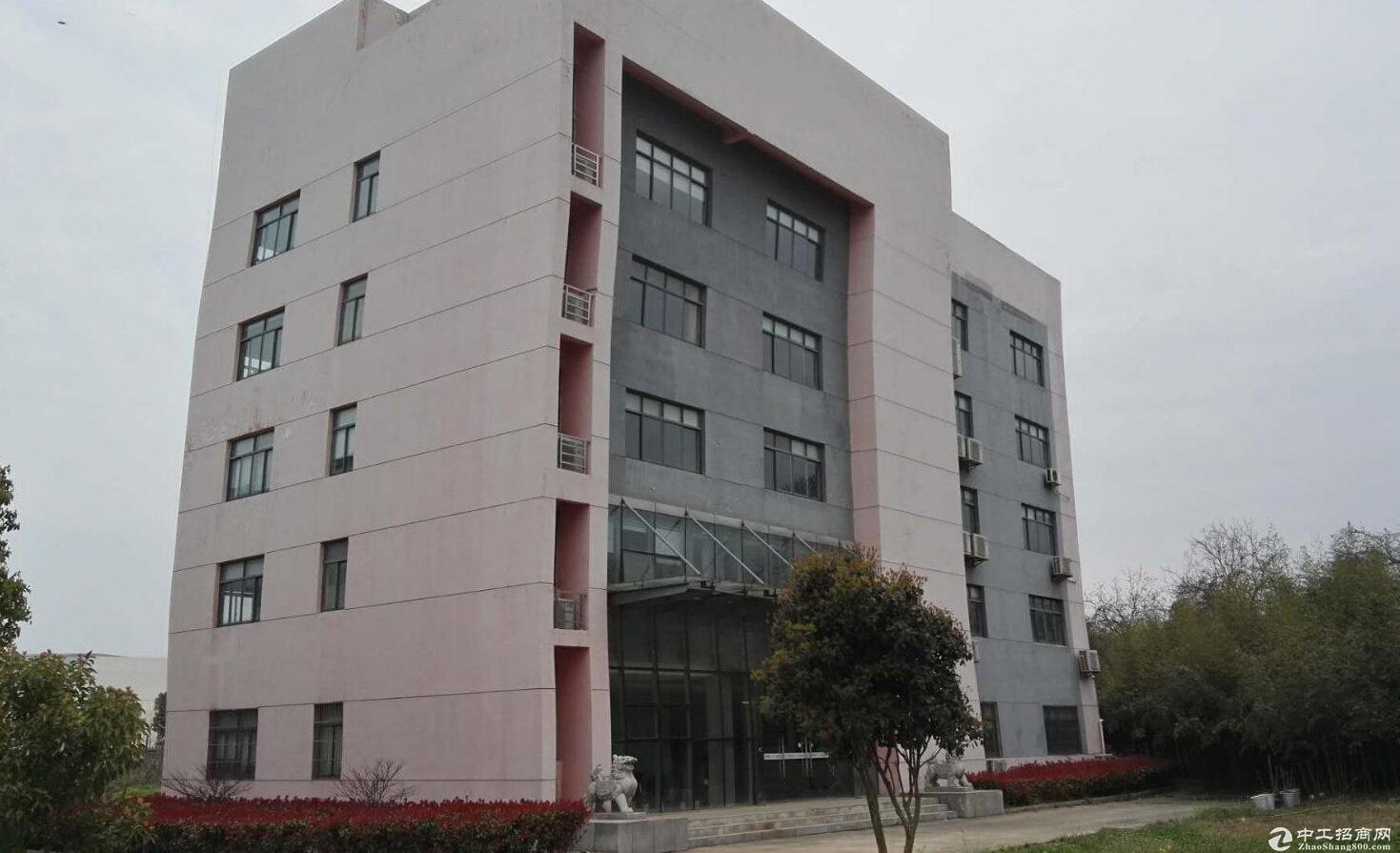 武汉周边单层钢构厂房(10吨行吊)带办公楼 宿舍出租