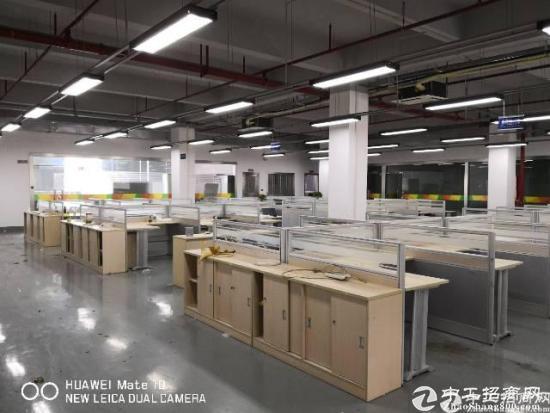 石岩红本厂房高大尚园区整层2500平带精装办公室