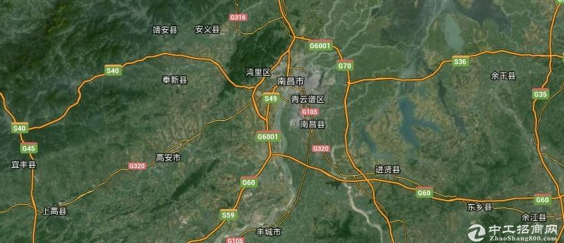 南昌县银三角瓜山路段105国道边厂房、仓库出租1