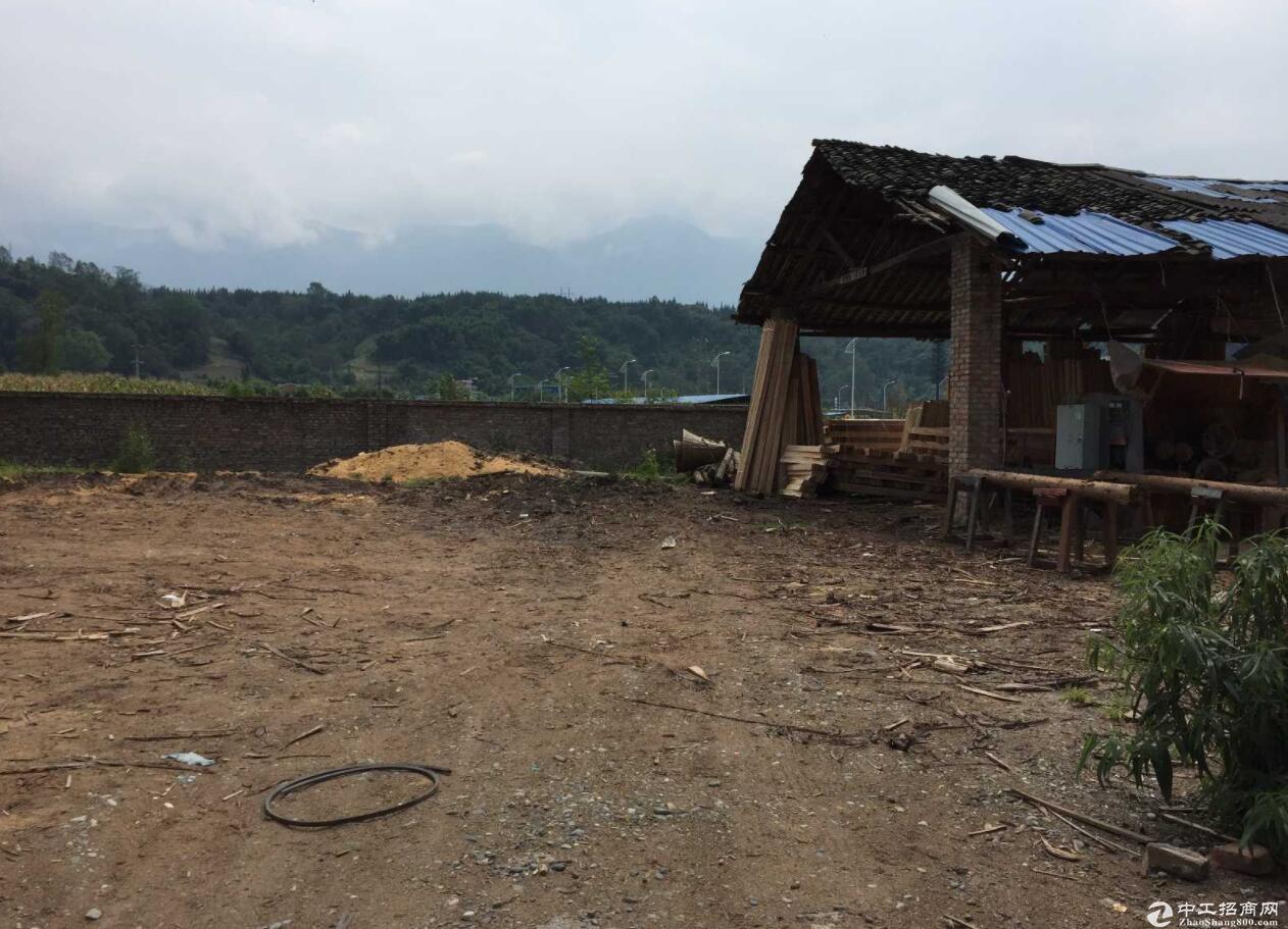 出租芦山县空闲厂房 面积3亩 省道210路旁