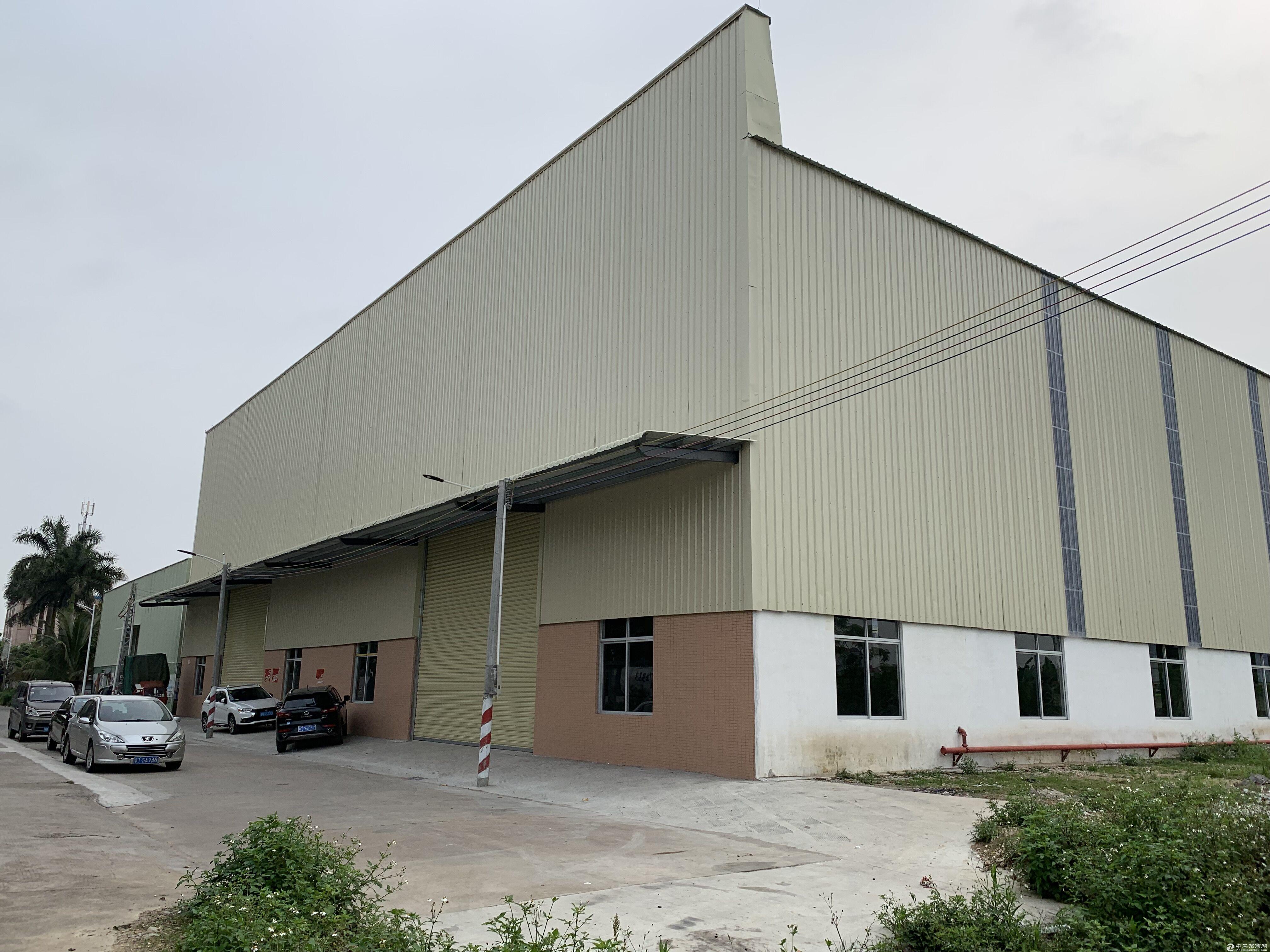(原房东)三角镇3000方12米钢结构厂房火热招租
