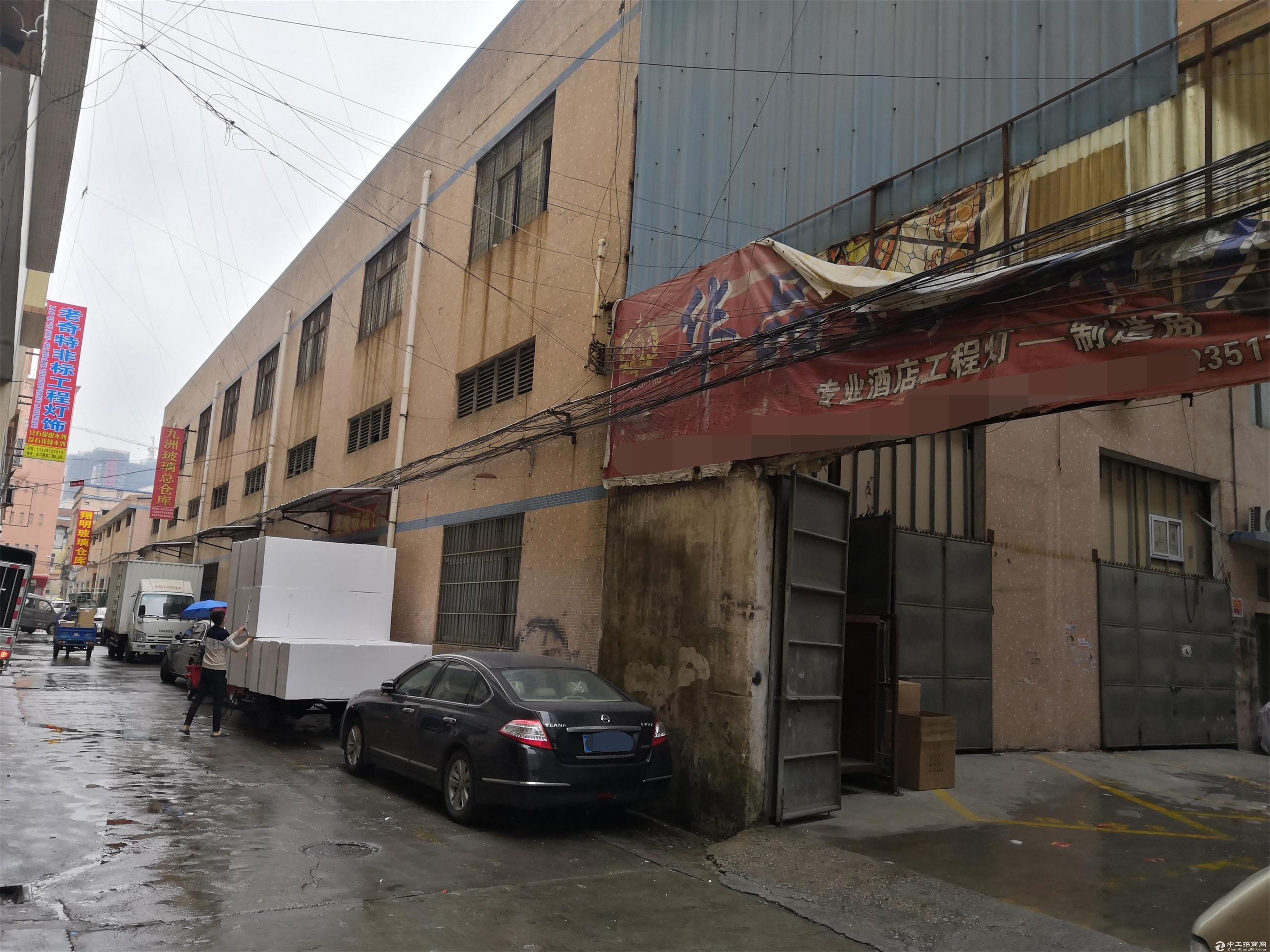 出租古镇古二华星配件城对面带升降梯二楼厂房,离庆丰配件城很近