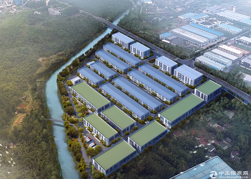 全新园区厂房,单层10米高钢构,无税收