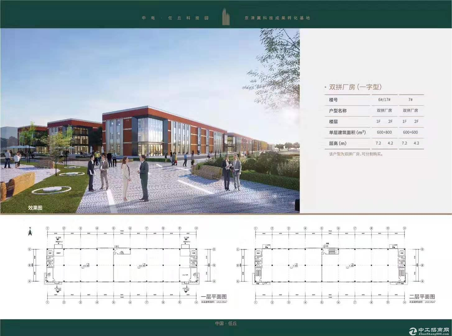 北京周边任丘科技园双层厂房出售可环评