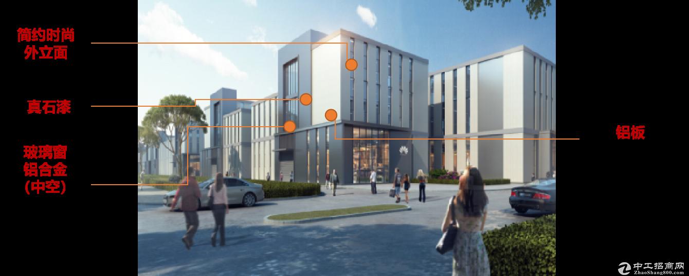 高品质独栋厂房  50年产权 稀缺两层半 送420平大露台