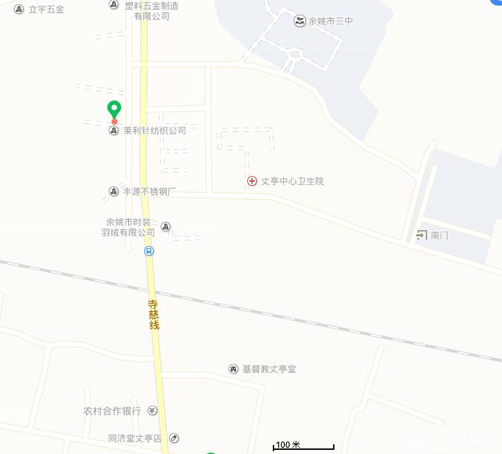 余姚市丈亭镇新民北路12号土地30亩厂房面积2000平方
