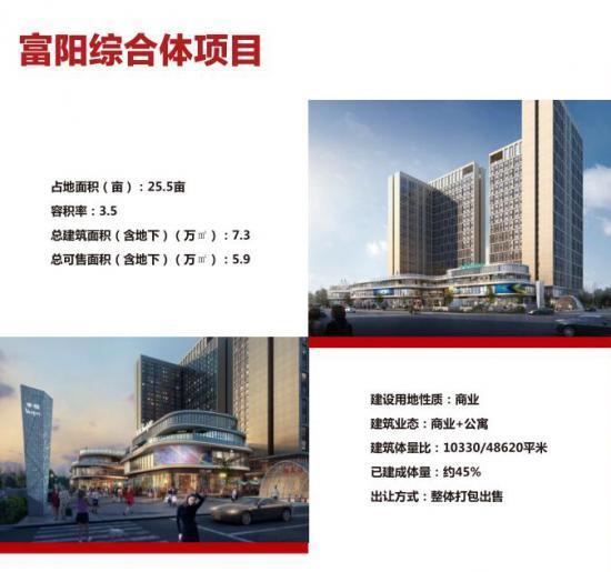 无锡富阳综合体48620平米优惠出售 可整体打包出售