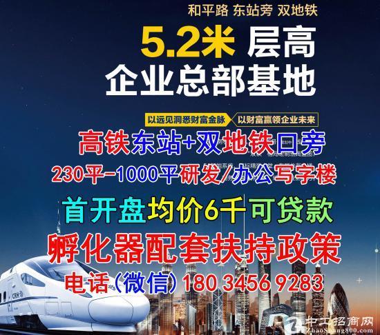 (首开盘)高铁东站+双地鉄口旁+买一层得俩层+研发办公写字楼