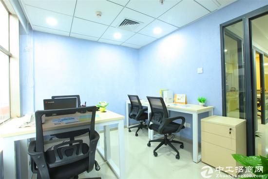 南山小型办公室家私齐全带电脑即可办公
