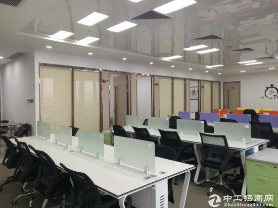 红本可注册横岗地铁站精装修甲级写字楼150平