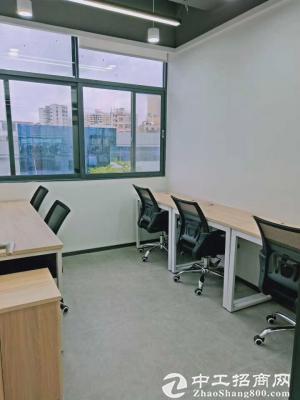横岗办公室出租-创客空间办公室,有红本凭证-可注册!