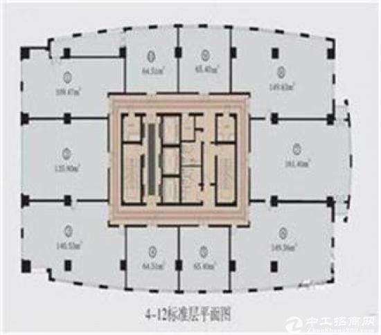 德宏商务写字楼整层出租1000平租金3.8元图片2