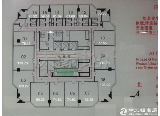 银桥大厦 200平租金3块 带基本装修 房型方正图片2
