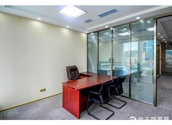 华侨城 侨城坊300平 精装电梯口 户型方正带家私 园林办公
